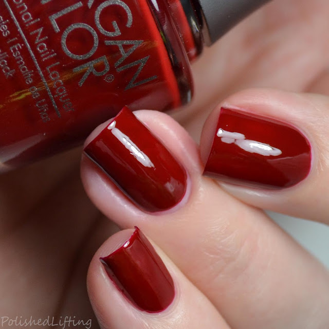 rich red creme nail polish