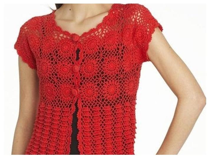 Ideas para el hogar: Saco en crochet con moldes