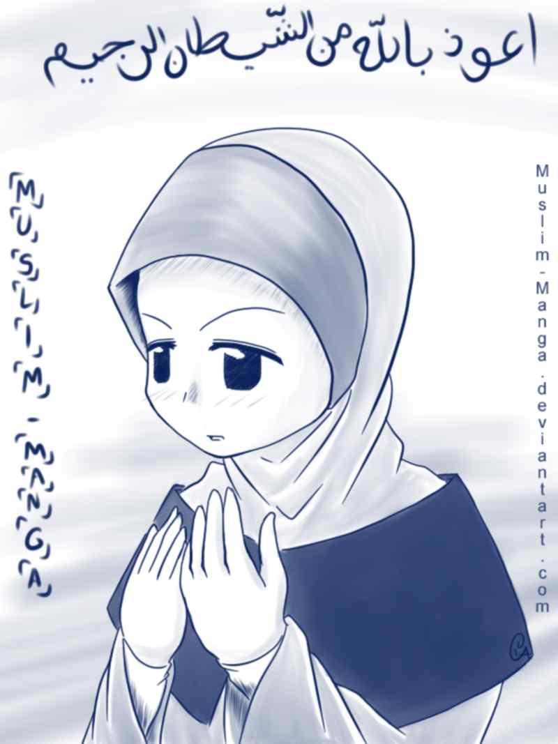 Populer Kartun Wanita Muslimah Berdoa