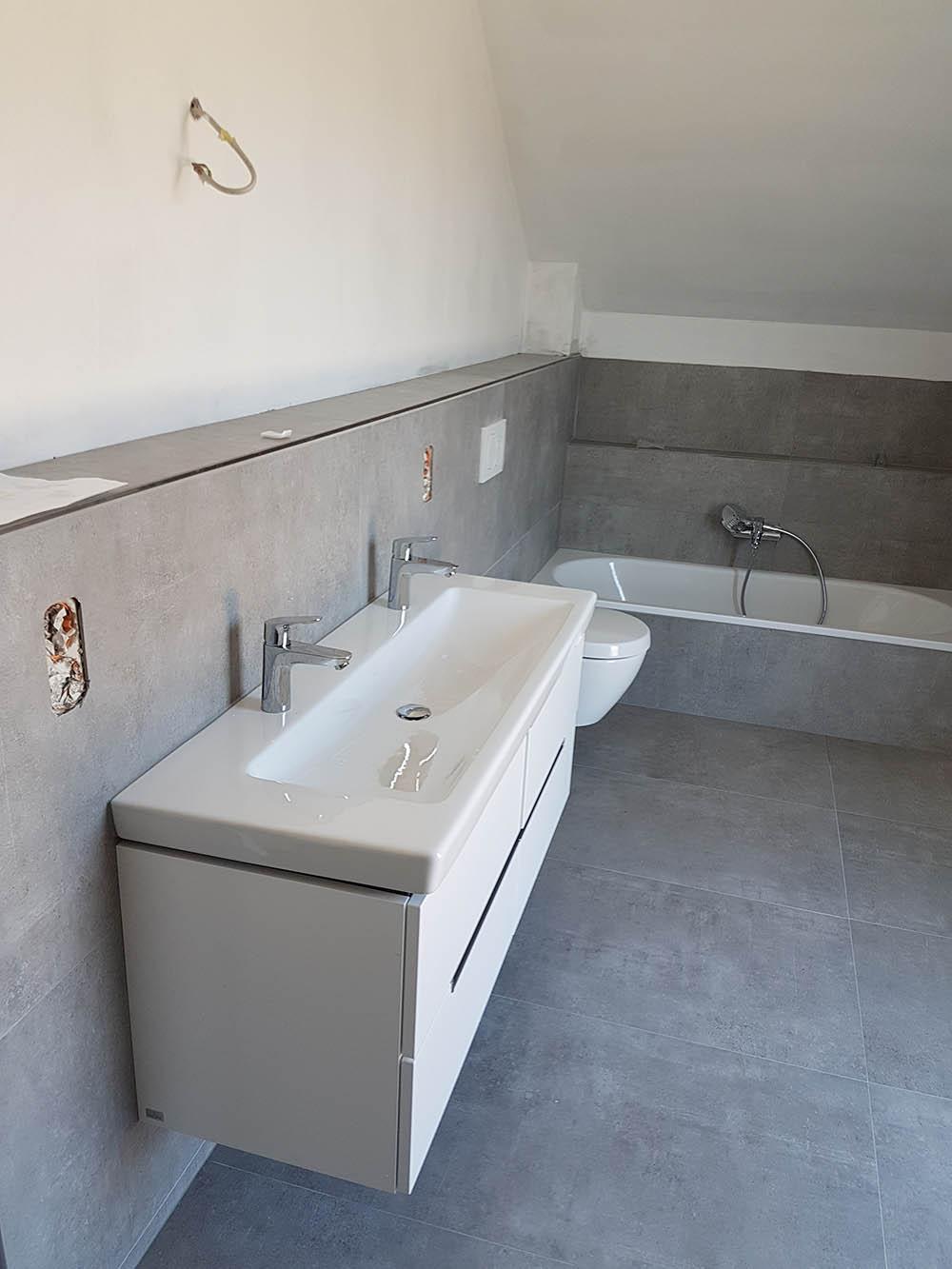Hausbau mit Okal - Baublog Hessen, RTK: Bad endlich fertig - jetzt
