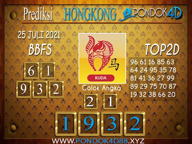 Prediksi Togel HONGKONG PONDOK4D 25 JULI