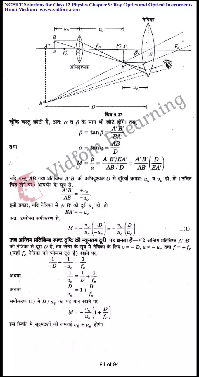 class 12 physics chapter 9 light hindi medium 94