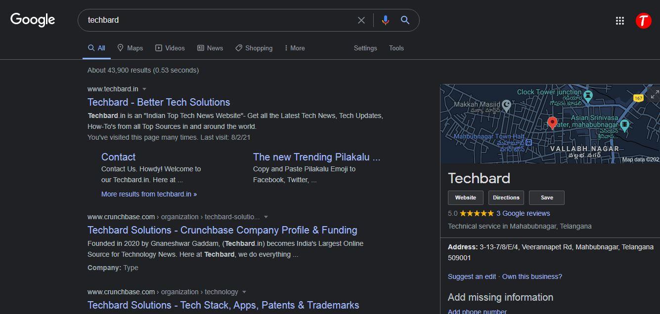 Dark Mode In Google