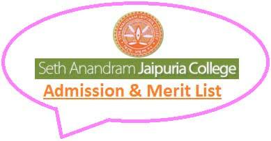 Seth Anandaram Jaipuria College Merit List