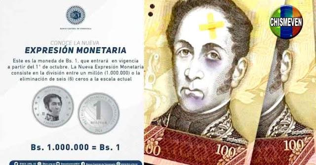 Maduro anuncia nueva devaluación del Bolívar en un millón porciento 1.000.000%