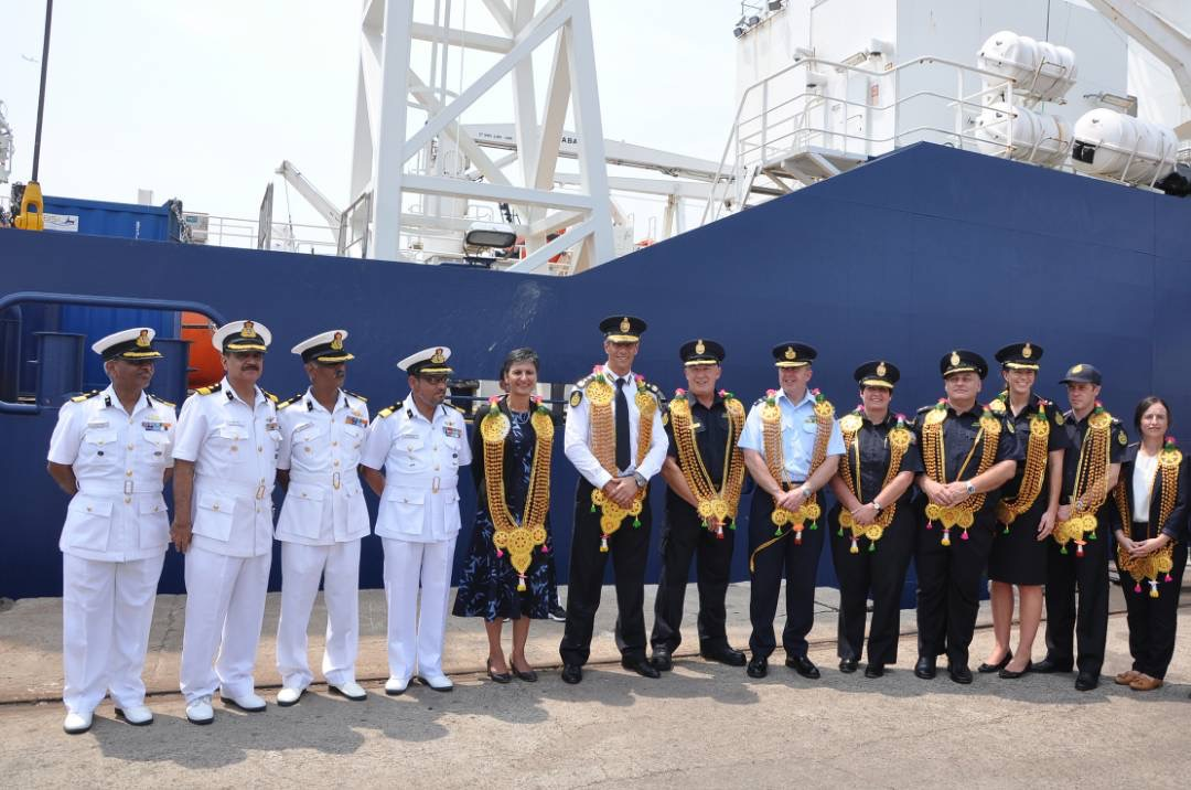 Chindits: Visit Of Australian Border Force Cutter 'Ocean Shield'