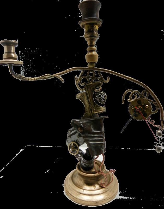 Monsieur Lumière - recyclage de chandelier