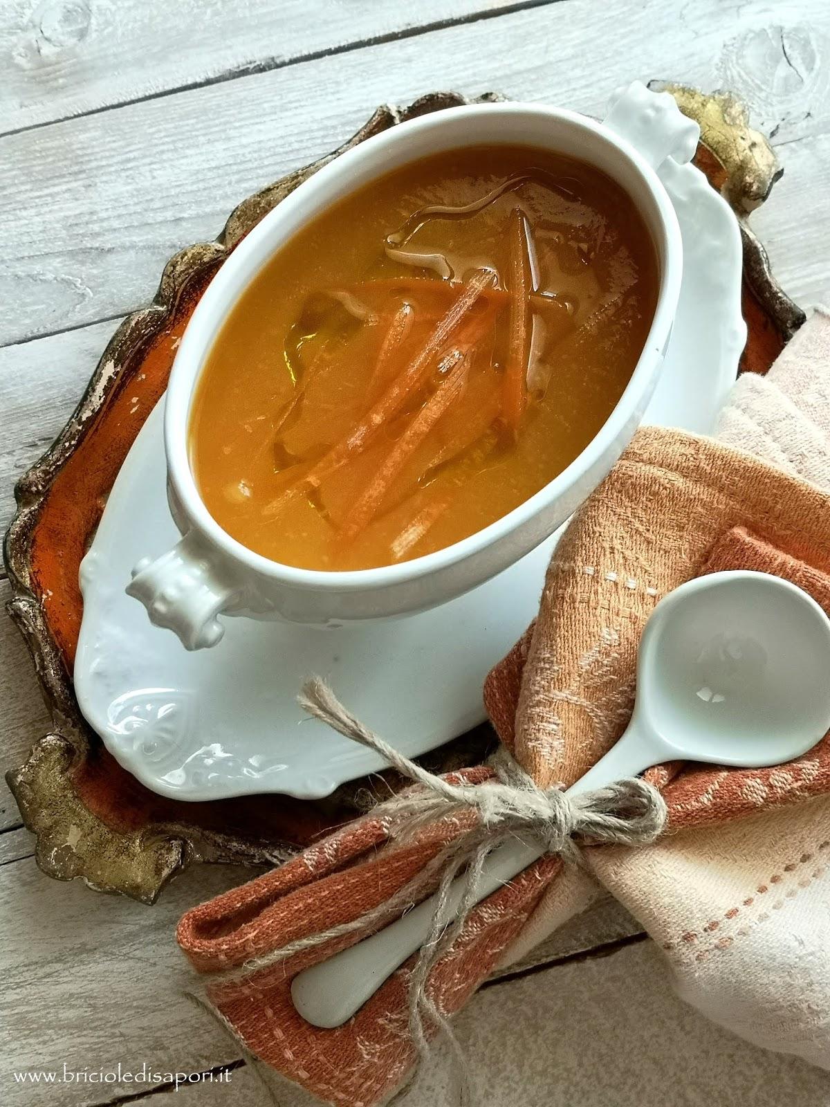 crema di carote e patate con crostini
