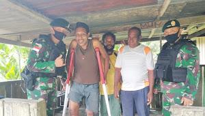 Frans : Terimakasih Bapak TNI, Saya Bisa Berdiri Lagi