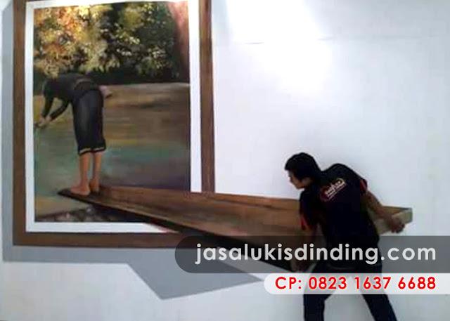 Lukisan dinding 3 dimensi