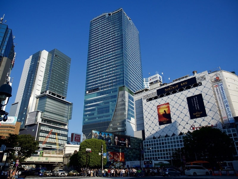 Shibuya Sky, with the height of 230 metres tall is the tallest building in Shibuya with 47 floors.