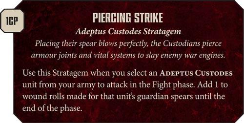Estratagemas Adeptus Custodes