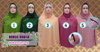 Jilbab bergo terbaru nabila dengan hiasan kancing