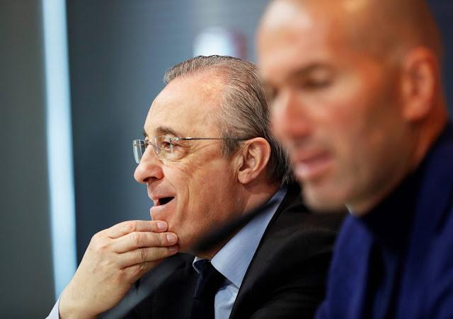 خلاف بين زيدان وبيريز في ريال مدريد
