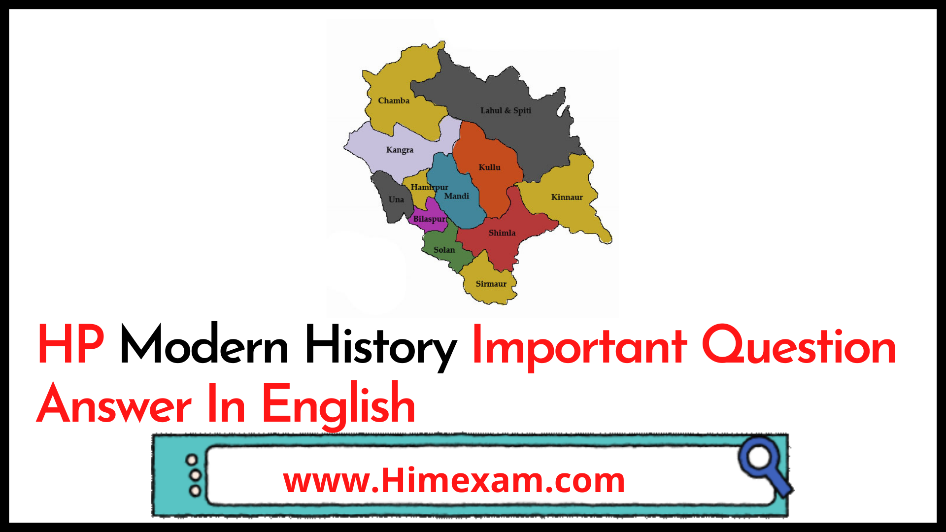HP Modern History Important Question Answer In English