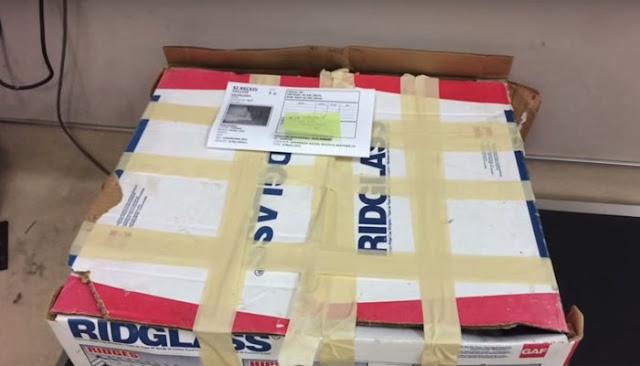 Рабочие нашли обмотанную коробку с ужасным запахом. Внутри было живое существо