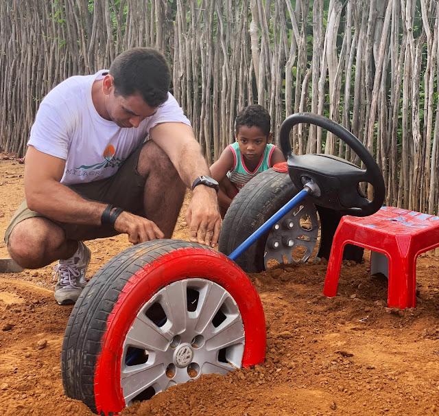 brinquedos recicláveis com pneus