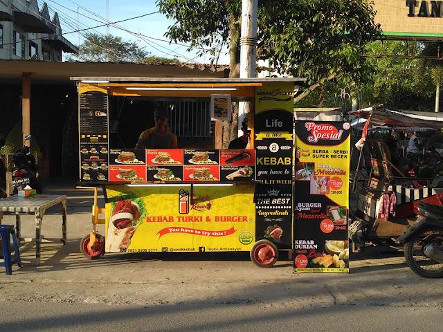 Contoh Branding Banner, Spanduk Kebab Turki - Percetakan Murah Tanjungbalai