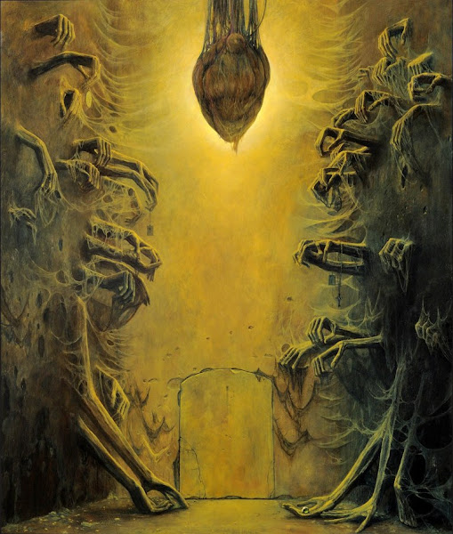 Zdzislaw Beksinski, Macabre Art, Macabre Paintings, Horror Paintings, Freak Art, Freak Paintings, Horror Picture, Terror Pictures