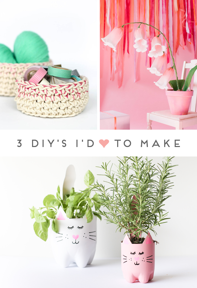 3 DIY'S I'D LOVE TO MAKE - PRETTY IN PINK