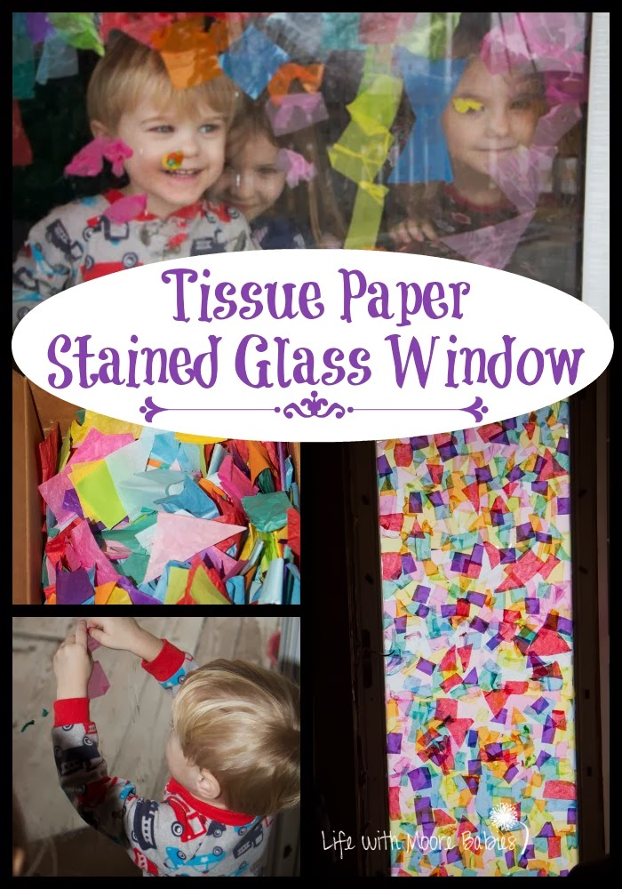 Tissue Paper Stained Glass Window Life With Moore Babies