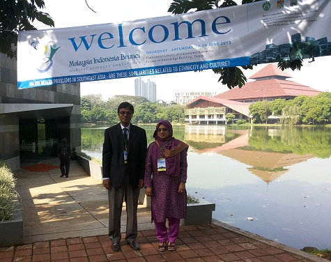 With My Wife Dr. Rabeya Yousuf at the 8th MIB-2013, Indonesia