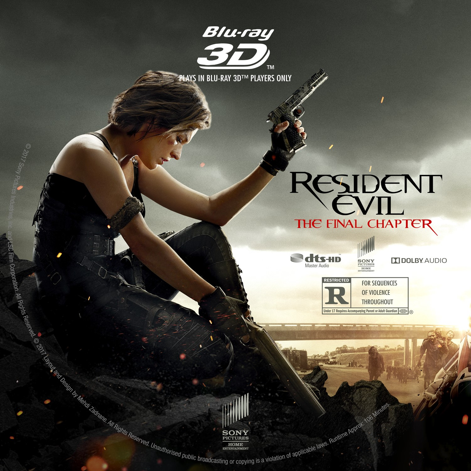 Resident Evil The Final Chapter Bluray 3d Label Cover Addict