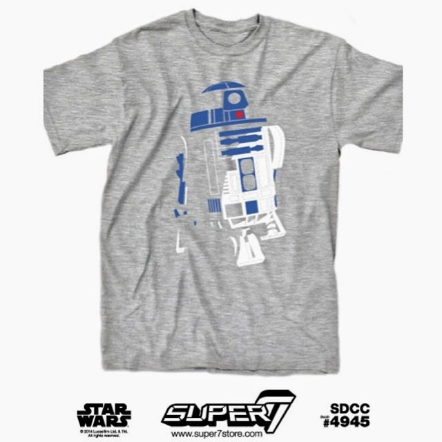 "San Diego Comic-Con 2014 Exclusive Star Wars T-Shirt Collection by Super7 - ""Minimal R2-D2"""
