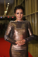 Actress Catherine Tresa in Golden Skin Tight Backless Gown at Gautam Nanda music launchi ~ Exclusive Celebrities Galleries 079.JPG