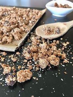image Granola fait maison : chocolat et noix de coco (okara)