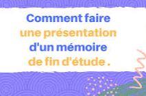 10 Astuces pour réussir la présentation PowerPoint de son Mémoire de fin d'études