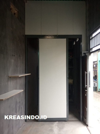 Pintu Rangka Besi Kombinasi Multiplek solusi untuk Pintu Gudang