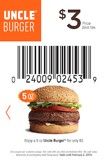 A&W Coupons $3 Uncle Burger