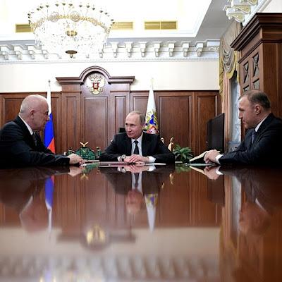 Vladimir Putin, Aslan Tkhakushinov, Marat Kumpilov, Kremlin.