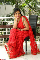 Lasya Cute Beauty in Saree Backless Choli at her Interview ~  Exclusive 024.JPG