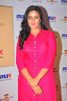 Sree Mukhi in Pink Kurti looks beautiful at Meet and Greet Session at Max Store (53).JPG