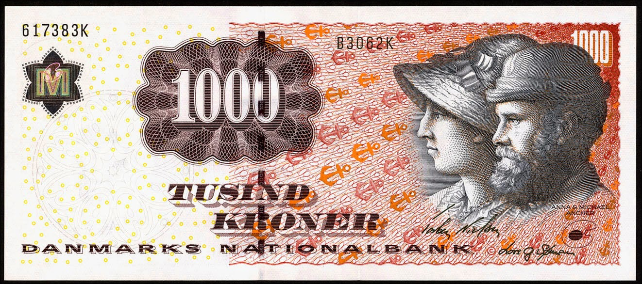 Banknotes of Denmark 1000 krone banknote 2006 Anna and Michael Ancher