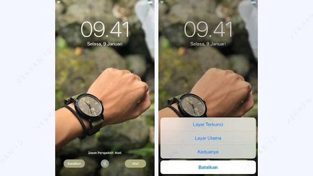 ubah wallpaper iphone