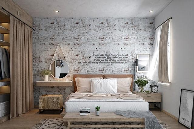 Chia sẻ kiến thức sử dụng giấy dán tường cho phòng ngủ đúng cách