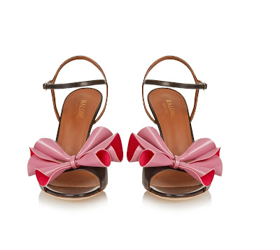 Malone Souliers Selma Rose Leather Sandals