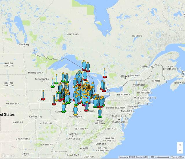 Relatos de meteoro bola de fogo sobre a região de Michigan nos EUA - AMS
