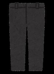 パンツのイラスト(黒)