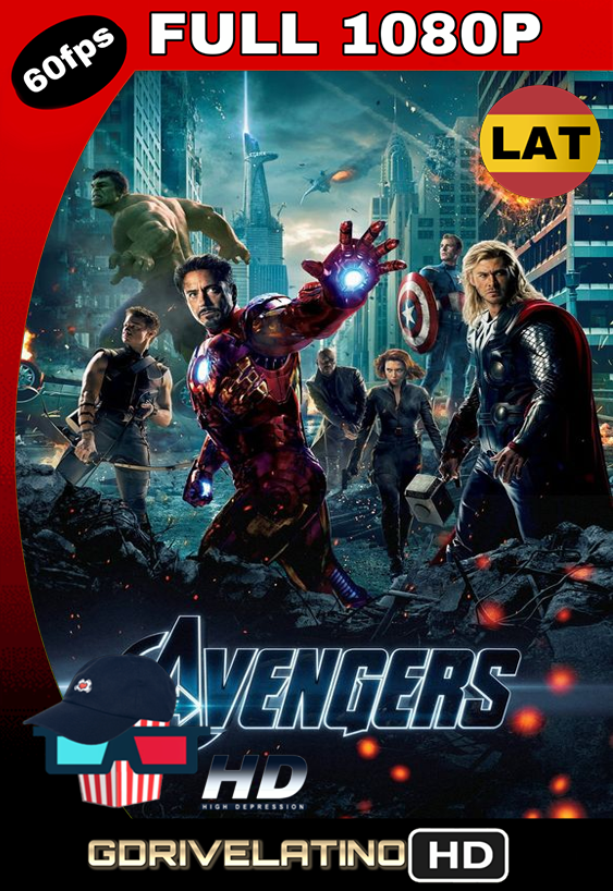 The Avengers: Los Vengadores (2012) BDRip FULL 1080p (OPEN MATTE) Latino-Inglés MKV