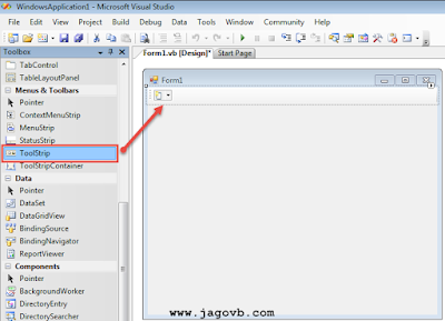 Cara Membuat Menu Toolbar di VB.NET
