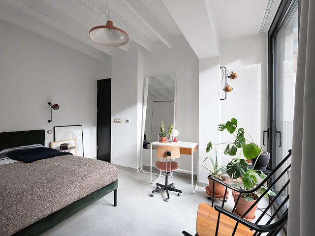 Chambre design minimaliste à Belgrade