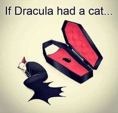 Funny If Dracula Had A Cat Cartoon