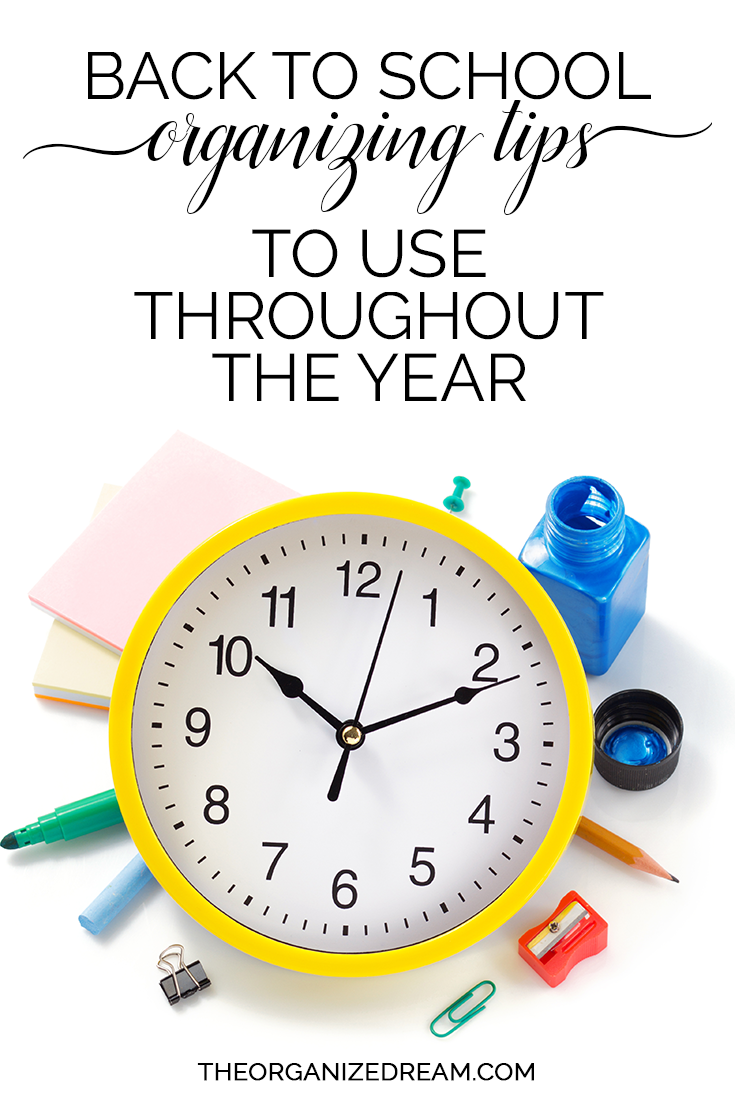Back to school organizing tips to use throughout the year. #organization #tips #backtoschool
