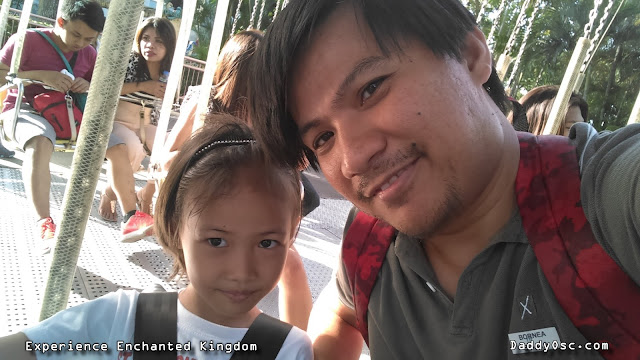 Father and Daughter bonding at the Flying Fiesta at Enchanted Kingdom.