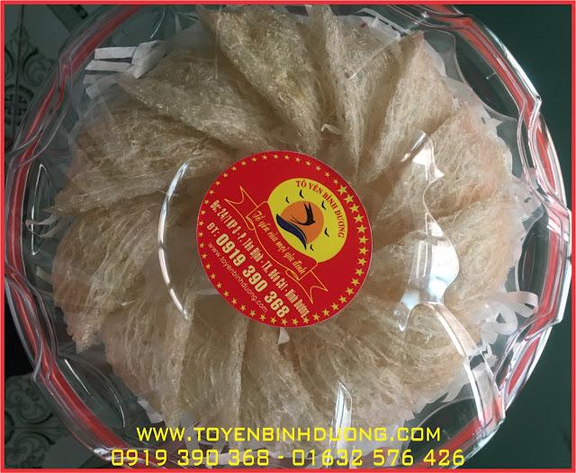 Tổ yến rút lông nguyên chất nhà nuôi 100% tại Bình Dương