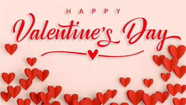 Valentine's Day red love hearts image